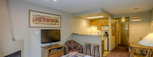 This fantastic studio comes with  spacious kitchenette