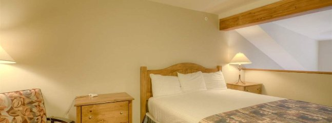 The loft upstairs has a king bed or tri bunk bed
