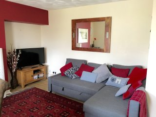 Relax in the lounge with smart tv and double sofa bed