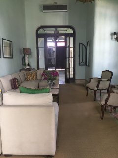 Living room to front portico