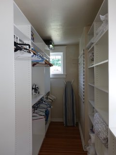 Spacious closet in master bedroom