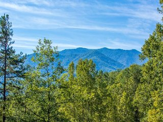 4BR Gatlinburg Cabin w/ Theater & Views. Sleeps 12. SUMMER SPECIAL from $199!