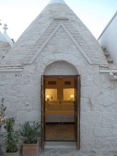 The iconic conical roofs of the trulli are unique to the part of Puglia.