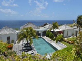 Luxury 6 bedroom St. Barts villa. Walk to the beach!