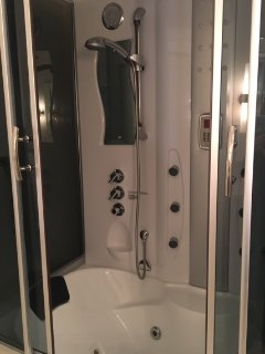 Main Floor Bathroom High Tech Steam Shower/Jacuzzi Tub that will relax you from head to toe