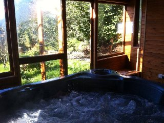 Cottage Private Hot Tub in Log Cabin - Dolanna, Llandysul