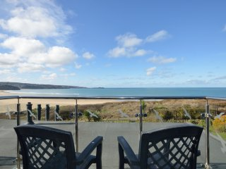 Beautiful views from Beach View House, St Ives Bay, Cornwall