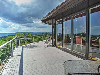 2BR Purlear Cabin w/ Wraparound Deck & Mtn Views!