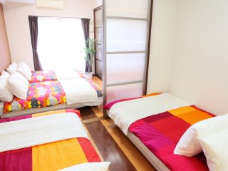 1-Bedroom Apartment for 8 People! Master's Residence Dotonbori III, M3-505