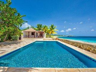 BLUE BEACH VILLA... comfortable villa on a fantastic soft, white sand beach!