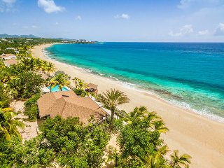BLUE BEACH VILLA... Save 15% on this 4 BR villa on gorgeous white sandy beach!