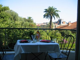 View over mediterranean gardens in heart of Nice