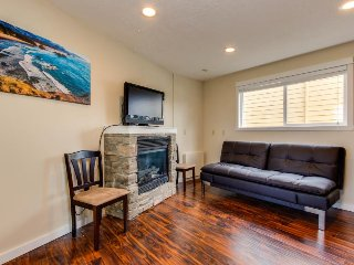 Dog-friendly condo w/partial ocean views - walk to the beach!