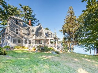 4BR, 3.5BA East Boothbay Oceanfront Home with Deepwater Dock