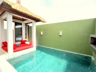 1 BR Private Pool Vila boutiqie  at center of seminyak