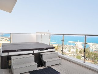 3b Seaview Duplex Penthouse1 Hot tub - Finikoudes beach