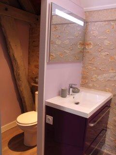Salle de douche, coin WC