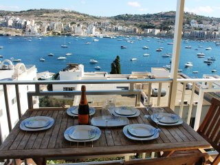 Bayview Apartment with outside seaview terrace, San Pawl il-Baħar (St. Paul's Bay)