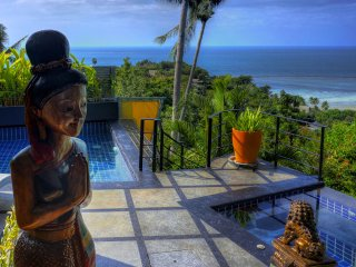 Outstanding Ocean View, 1 Bed Villa with Car, Pool, Jacuzzi & Free Transfer