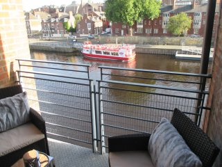 Private Covered Balcony with River & Clifford's Tower View