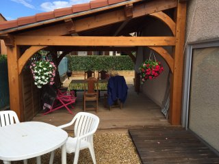 location T4 78m avec veranda et terrasse couverte