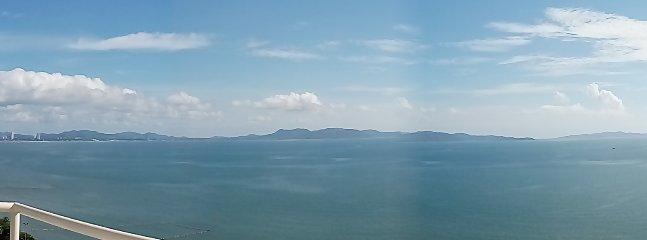 panoramic 180 degree sea view