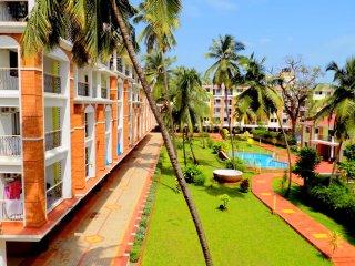 Spacious Pool View Apartment in Candolim :CM011