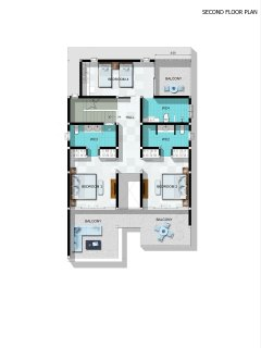 The Calvie's First Floor Plan – 3 ensuite bedrooms with incredible sea views.