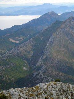 View walking up Mount Ilija