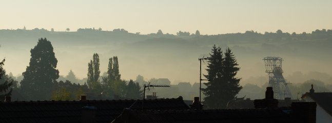 View from the Etoilee Suite, morning mist