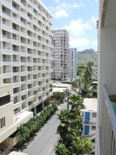 View of iconic Diamond Head from Lanai