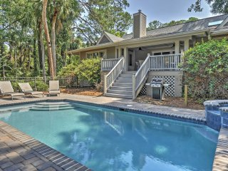 4BA Hilton Head Home in Sea Pines w/Pool!