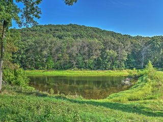 Hillside Cabin on 43 Acres w/ Private Lake & View!