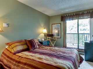 Cozy, ski-in/ski-out efficiency with shared hot tub & views - great location!