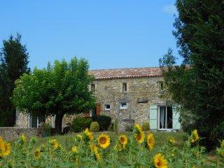Grande maison avec Piscine Chaufée securisée, Saint Martin de Gurson