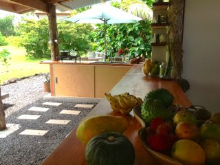 Kualoli Cabins and retreat near beaches, lava flow, Kalani, warm ponds and more.