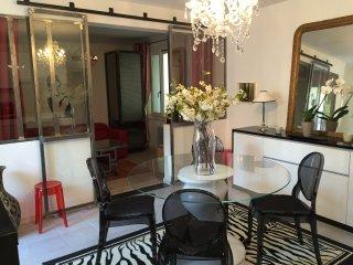 BEAUTIFUL appartement 50m2, 2/4 personnes +jardin privė design+ place de parking, Cannes