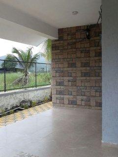 Side view of verandah