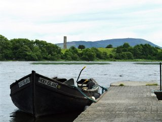 Boat to Holy Island on Lough Derg