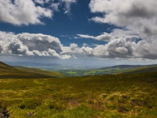 View from the Galtee Mountains across Tipperary