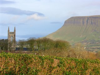 Drumcliffe Church with Benbulben in the background