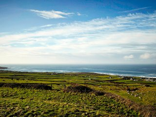Views overlooking Fanore from the property