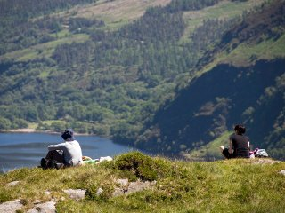 Enjoying the view - Wicklow Mountains