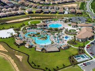 Oasis clubhouse features a huge pool w/ water slides, lazy river, gym,movie theatre, restaurants etc