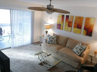 A short stroll to Crescent Beach from this adorable condo by the beach, Siesta Key