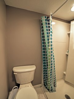 This bathroom provides the group with extra space to get ready for the day!