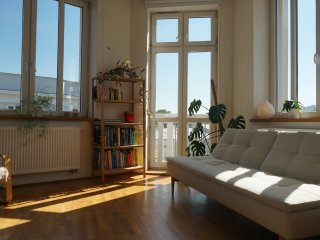Sunny apartment in historic town