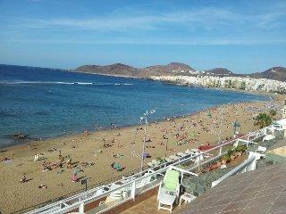 Apartamento para 2-3 personas en 1a línea de playa, Las Palmas de Gran Canaria