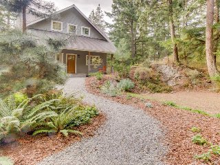 Lovely Orcas Island Craftsman-style home with filtered water view
