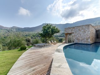Gorgeous architect-designed villa in one of Corsica's prettiest villages, Pigna